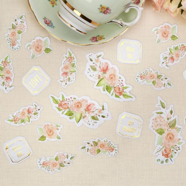 Geo Floral Table Confetti